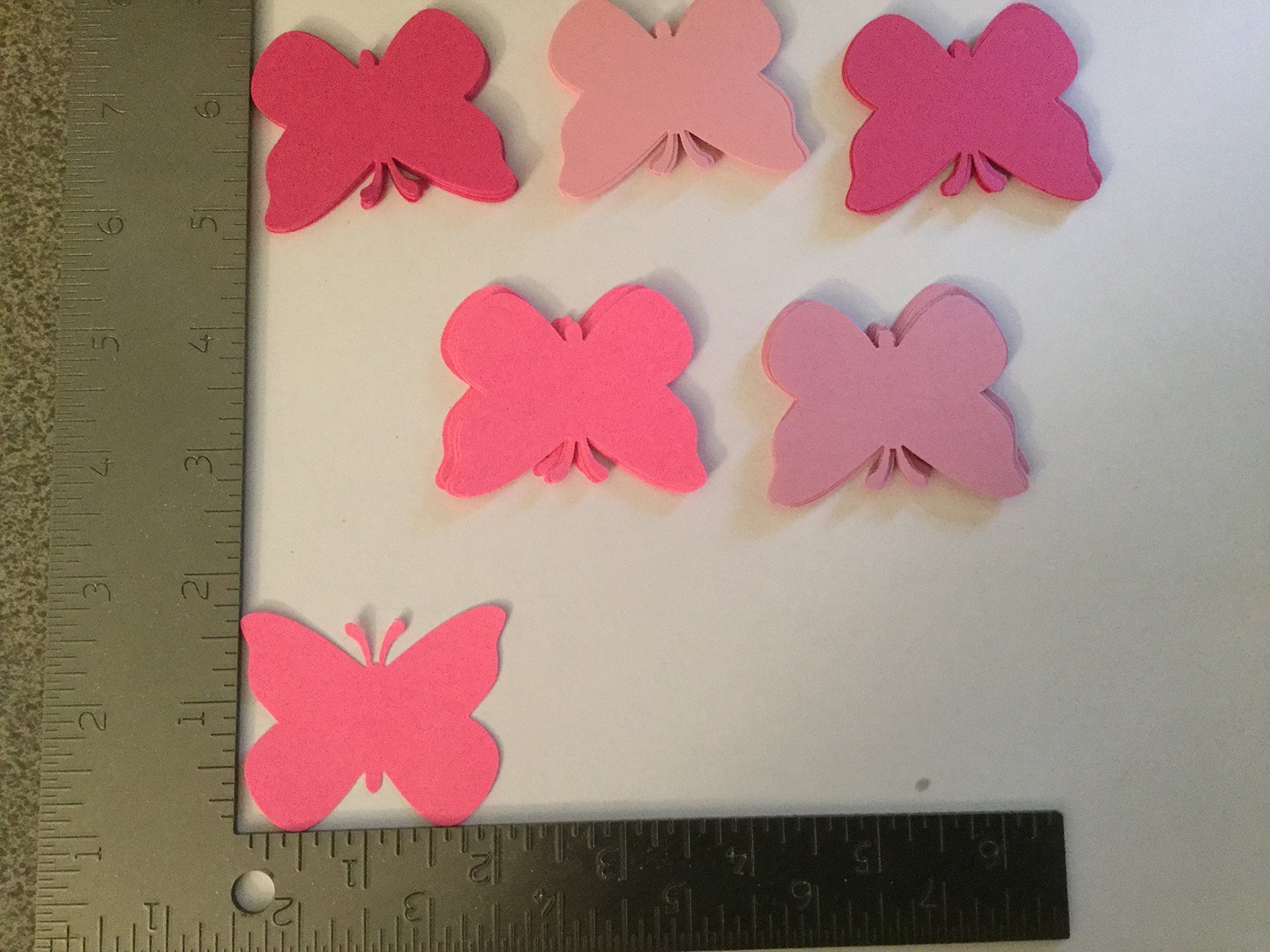 50 Shades Of Pink Paper Butterfly Die Cuts 2 Inch Butterfly Wedding