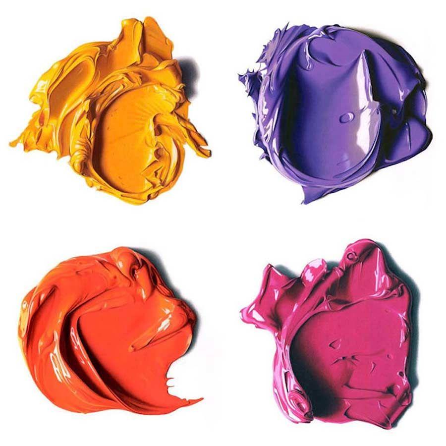 """Ultrarealistisch Gezeichnete Farbkleckse - """"Complimentary Colors"""" von CJ Hendry"""