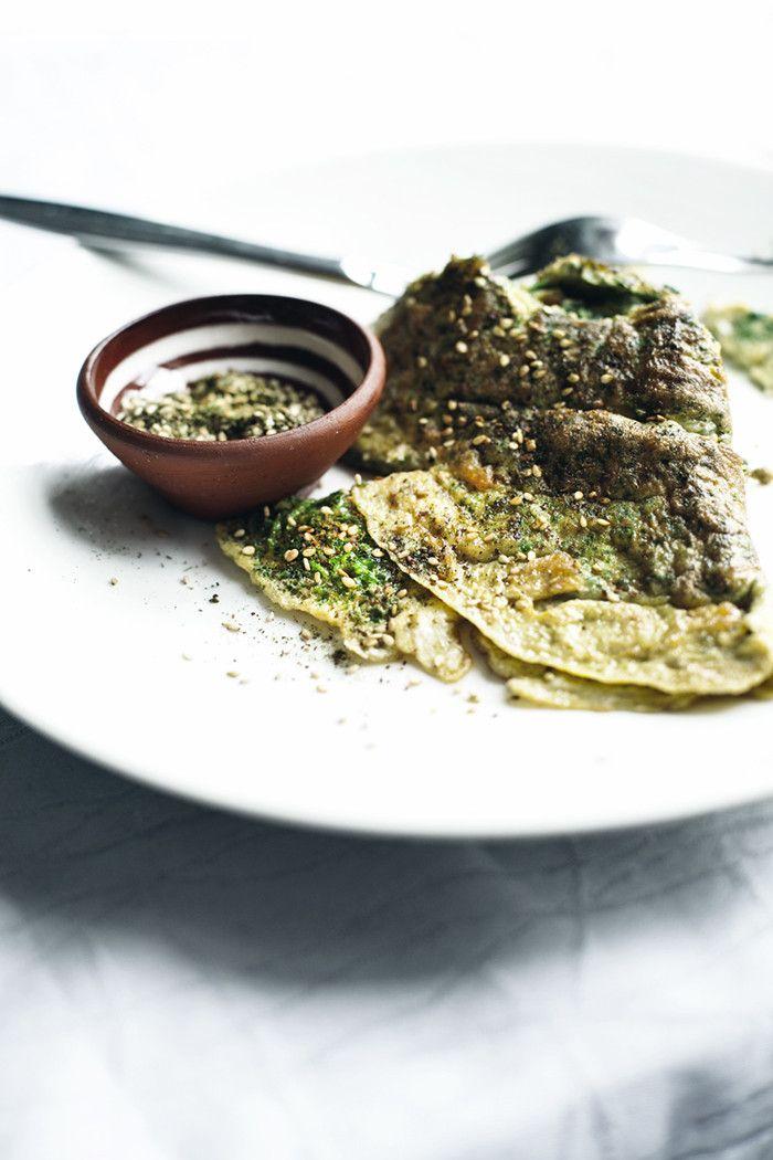 Nettle & lemon omelette with za'atar  | At the breakfast table