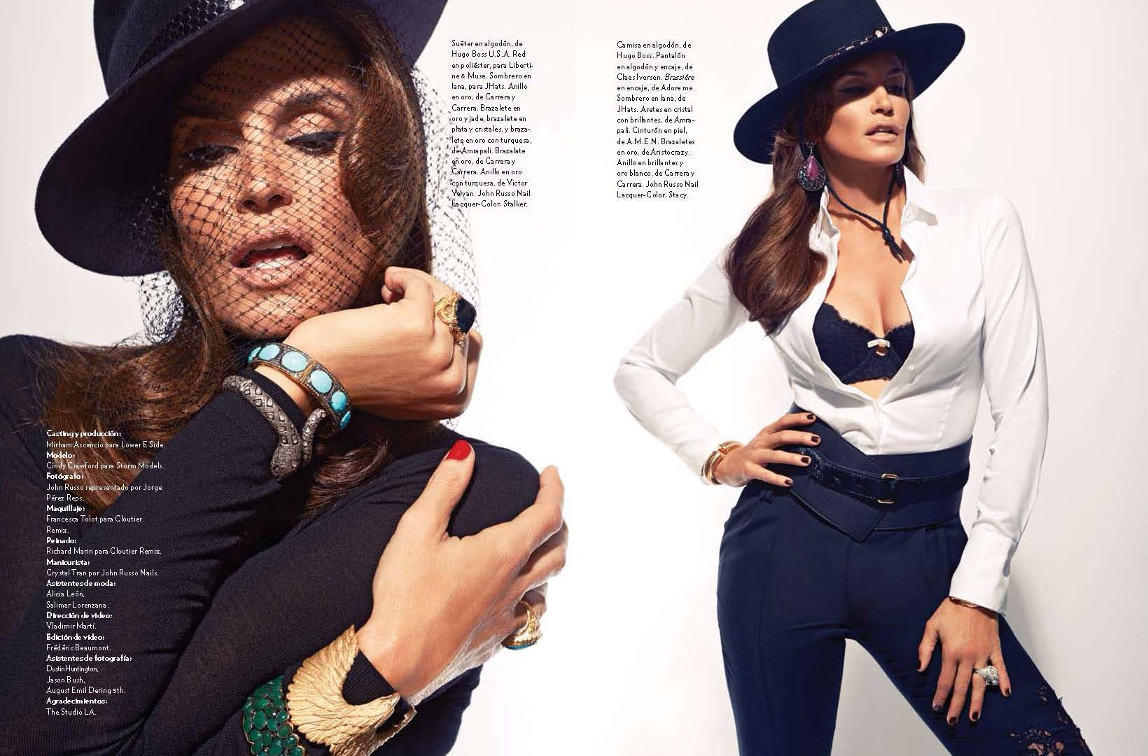 Cindy crawford for december marie claire latin america hair