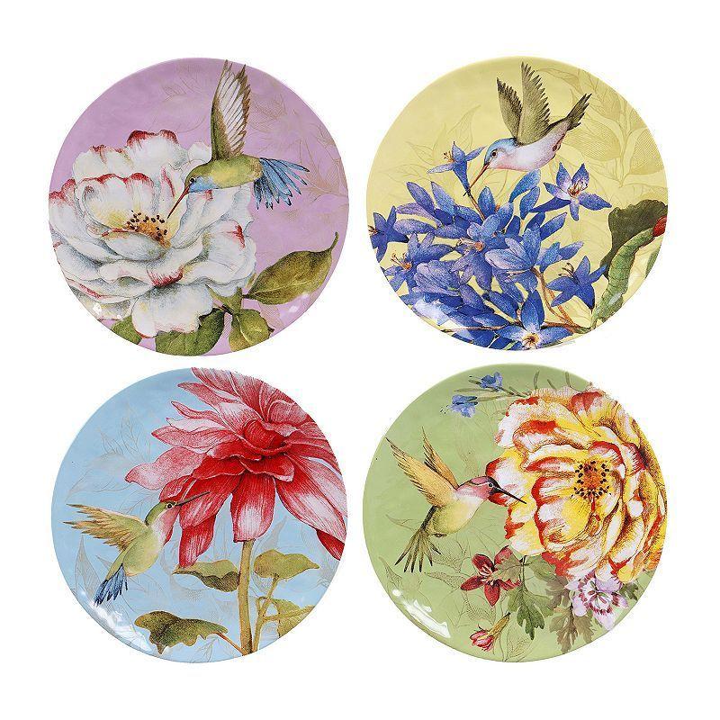 Certified International Floral Bouquet 4-pc. Dinner Plate Set, Multicolor