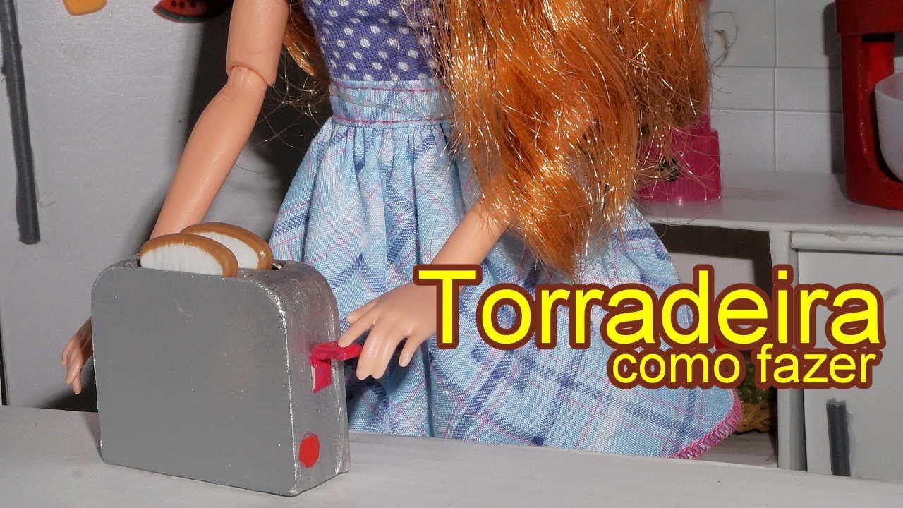 Como fazer uma torradeira para boneca Barbie, Monster High, Frozen, EAH ...