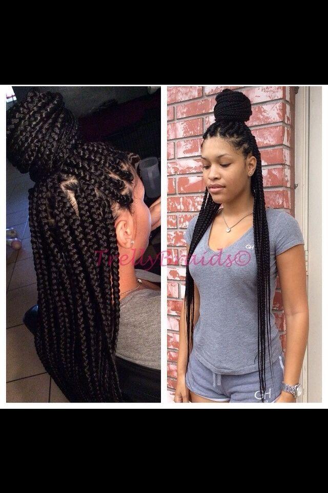 34+ Medium sized box braids long ideas