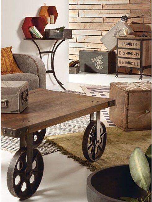 Mesas vintage con ruedas de carro 7 mobiliario pinterest las mejores ideas sobre mesa - Ruedas de mesa ...