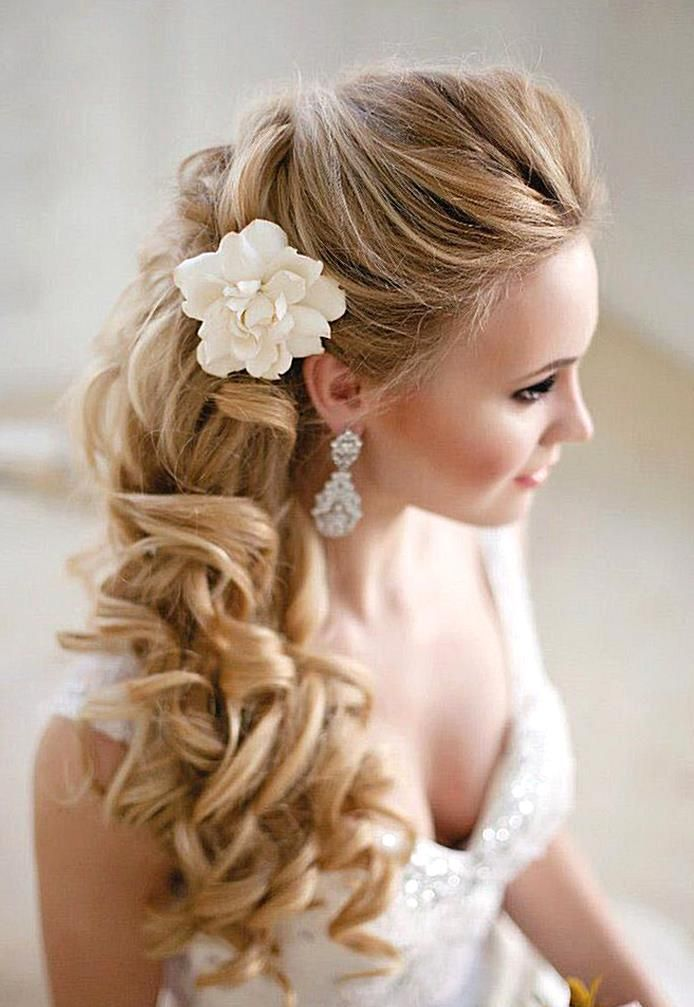 If you normally wear your hair down and arent sure about an updo then the side s…