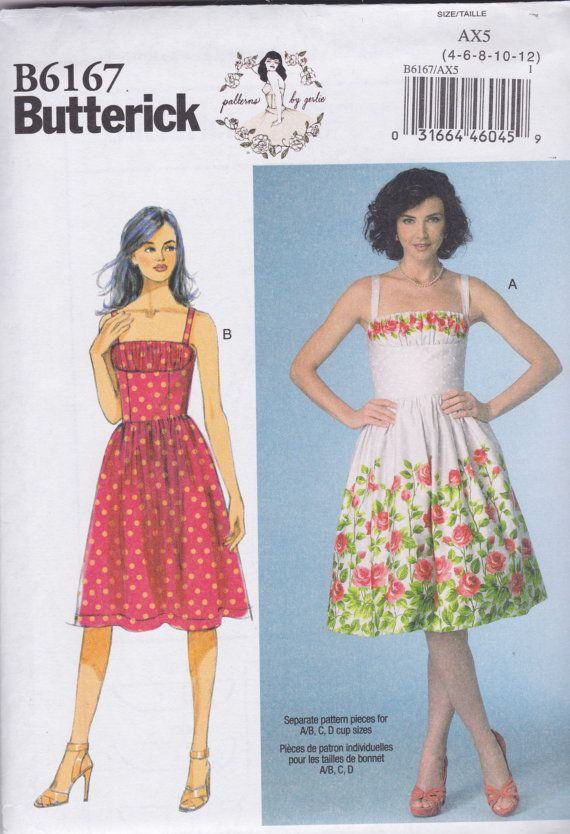 Butterick B6167 Patterns by Gertie Full Skirted Sun by ChinenTwo ...