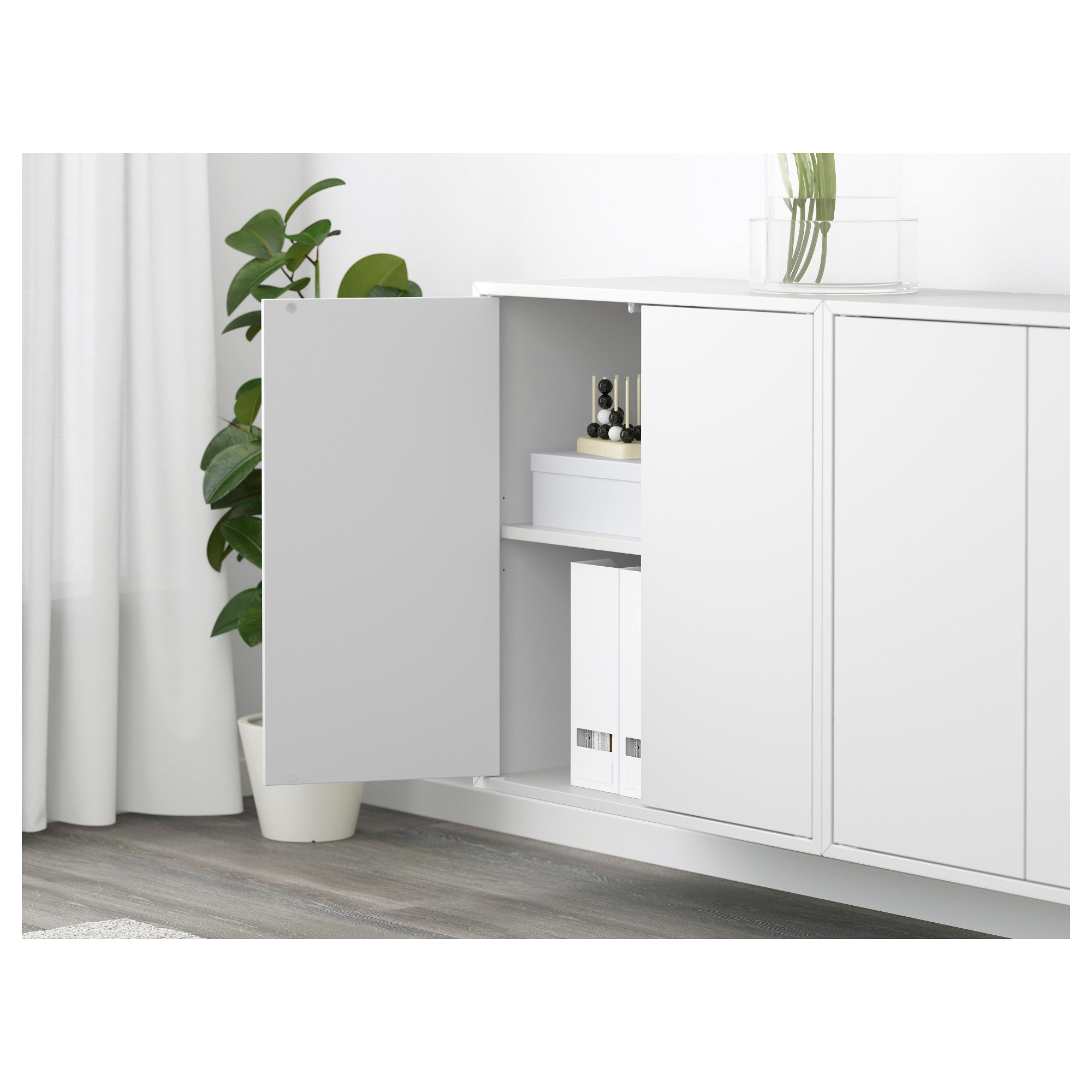 Best Ikea Eket Wall Mounted Cabinet Combination White 400 x 300