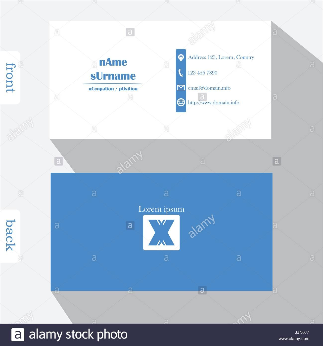 Business Card Back Design Side Template Microsoft Word Front With Front And Back Business Card Business Card Template Business Card Template Word Card Template