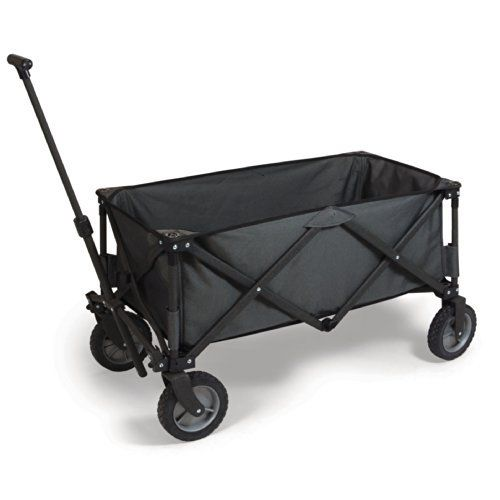VONZIO Sports Collapsible Folding Outdoor Utility Wagon Charcoal Grey >>> Check out this great product.
