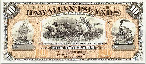 billet de banque hawaii