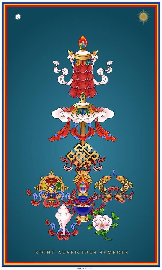 Eight Auspicious Symbols Canvas Print Canvas Art By Fred Van Der