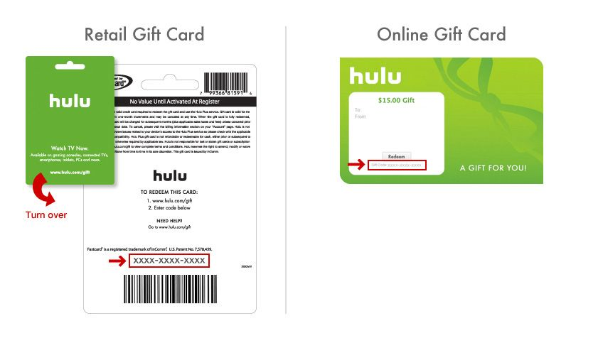 Hulu gift subscription