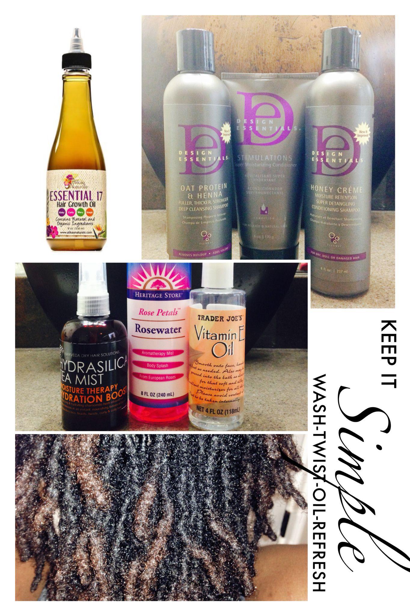 Loc Care Simplified Wash Condition Design Essentials Line Retwist 1 2 Rosewater 1 2 Vitamin E Oil A Diy Hair Care Recipes Hair Junkie Hair Care Recipes