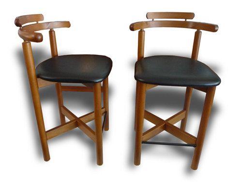 mid century modern gangso mobler pair of teak bar stools danish