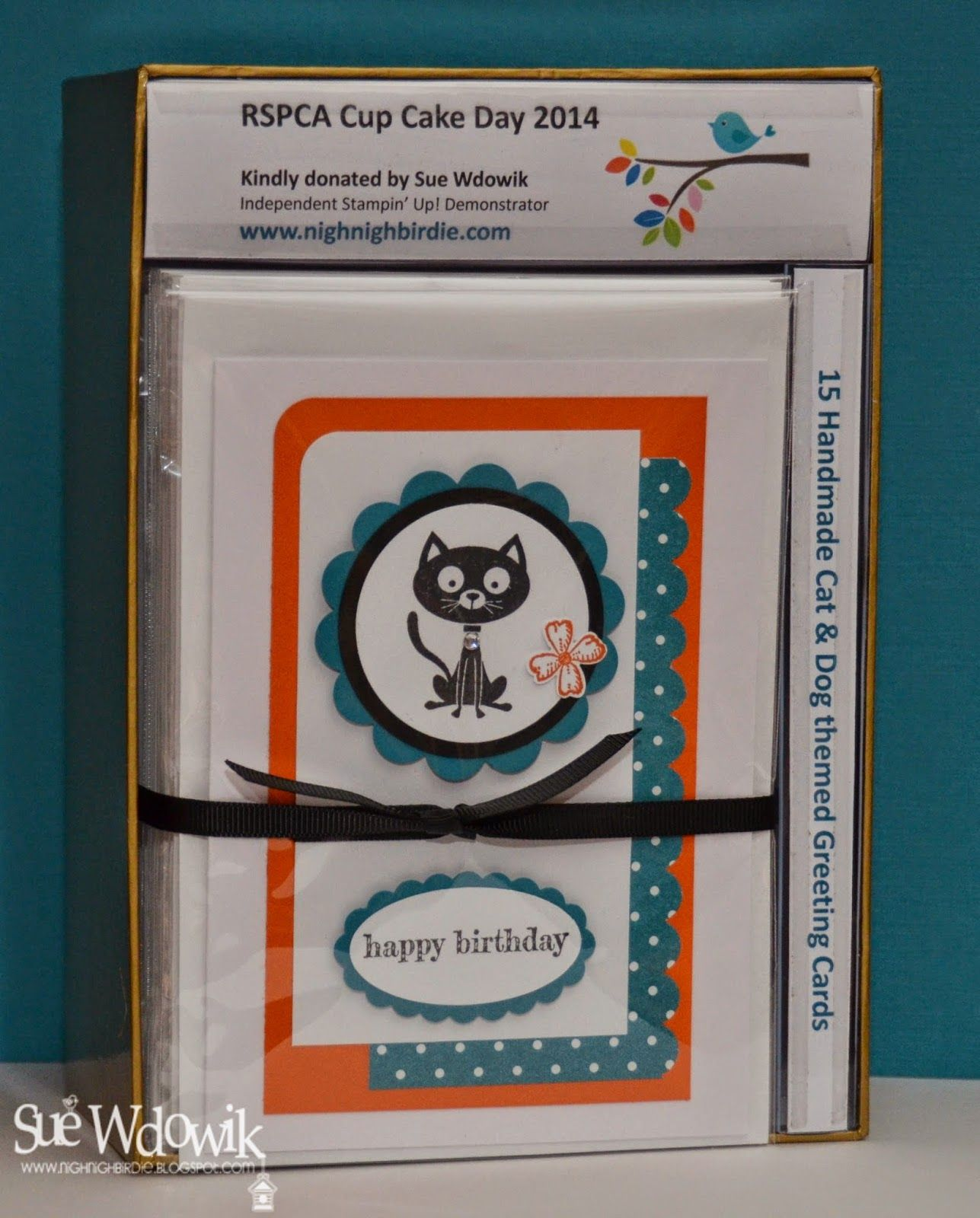 Sue Wdowik Independent Stampin Up Demonstrator Australia August 2014 Charity Rspca Cupcake Day Cupcake Day Kids Cards Animal Cards
