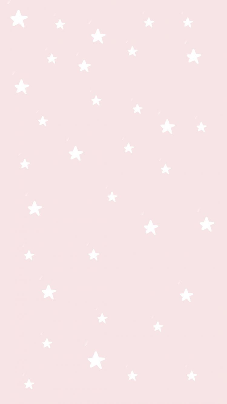 Light Pink With White Stars Phone Wallpaper Background Pretty Wallpaper Iphone Preppy Wallpaper Free Iphone Wallpaper