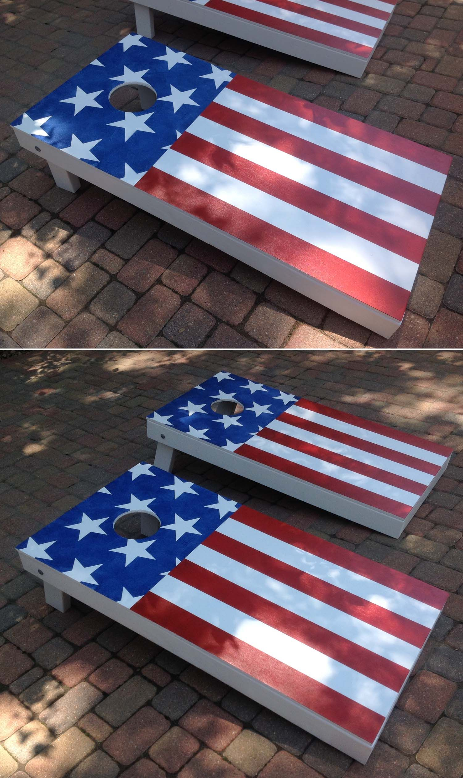 Hand Made American Flag Corn Hole Game Fourth Of July
