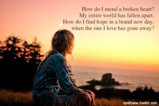 Mend a broken Heart.