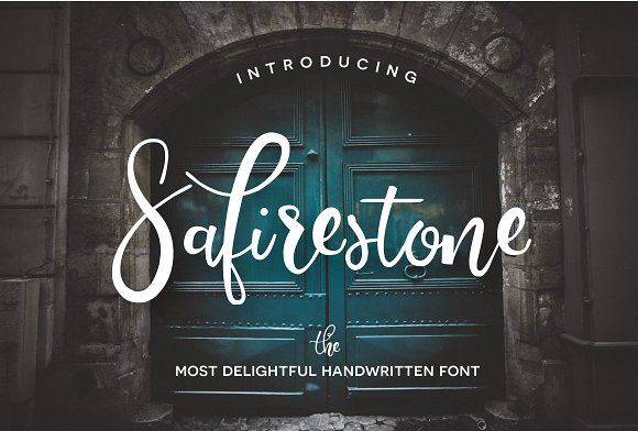 Safirestone Font + Extras Flycatchers, Fonts and Modern fonts - font for resumes