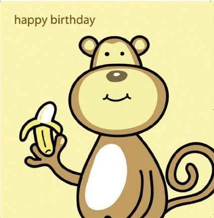 Monkey Birthday Card My Birthday Pinterest – Birthday Card Monkey