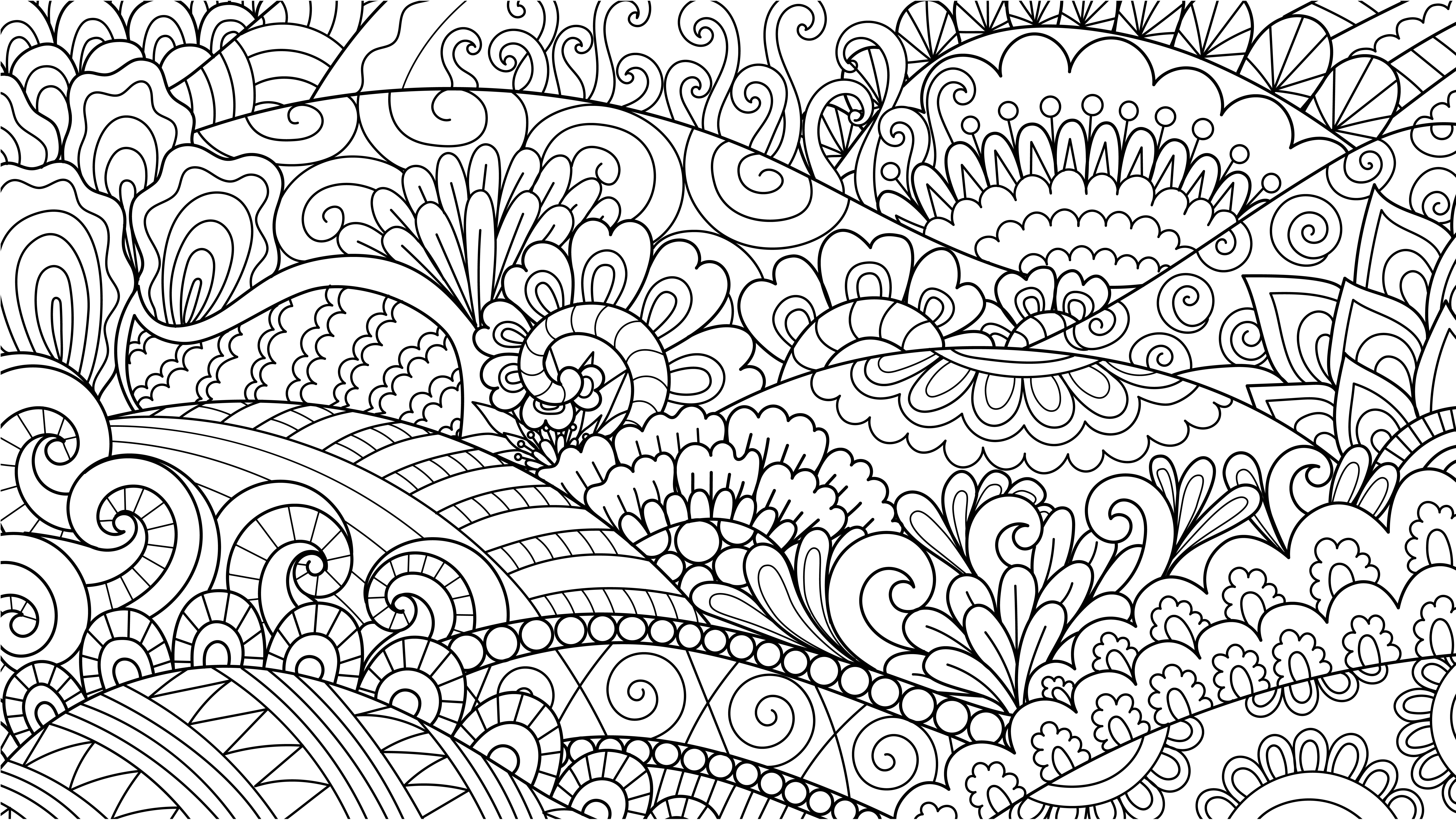 Mindfulness Coloring Pattern 1 How To Draw Hands Fall Coloring Pages Line Art