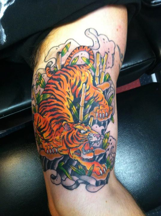 7ee00b101 Traditional Japanese Tiger | Tattoos by Rick Welch | Japanese tiger ...