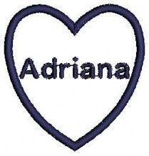 Adriana Girl Name - Machine Embroidery Designs