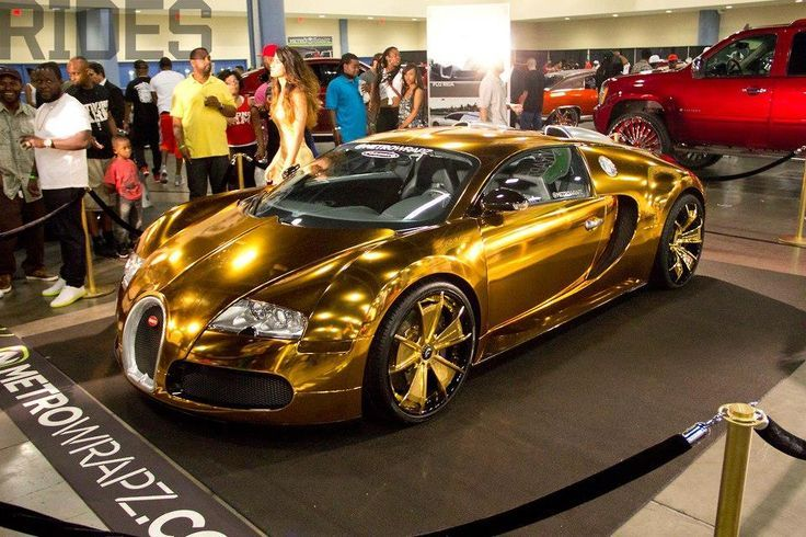Car Of The Day On Our Page Is Golden Bugatti If You Support This