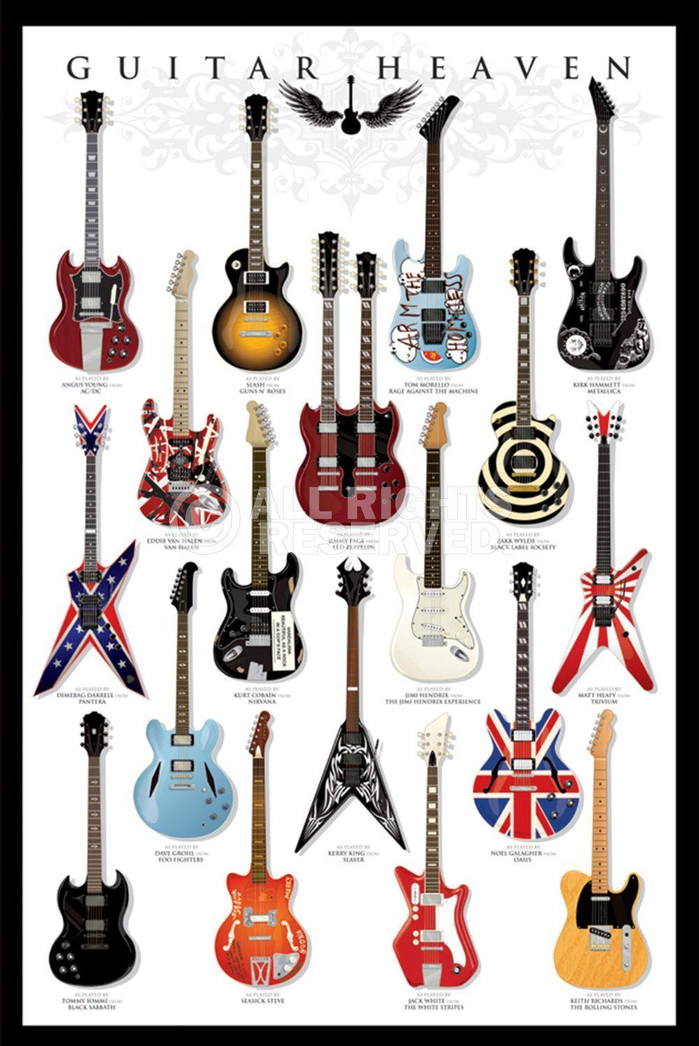 Poster: Guitar Heaven zum Verkauf online. Bestellen Sie Ihre Poster, Ihre 3D Film-Poster oder ähnliches interessantes Maxi Poster