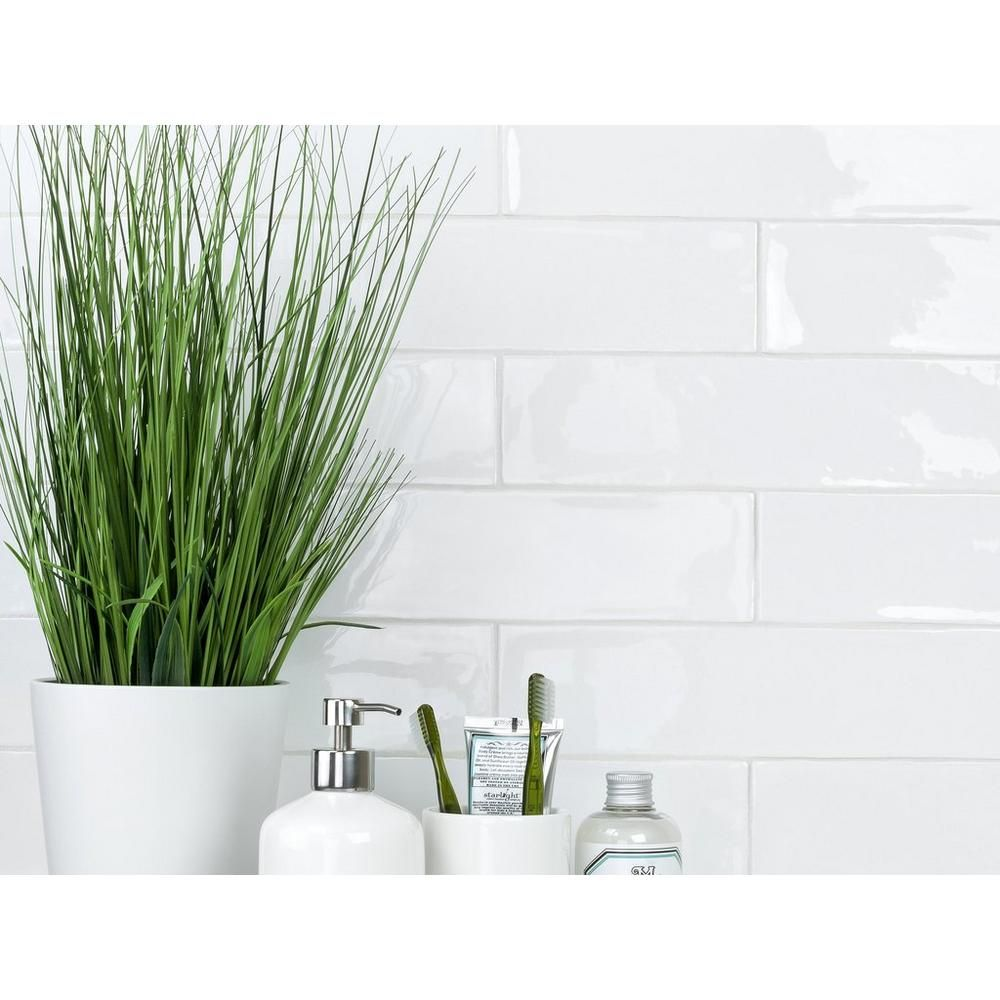 Kitchen Backsplash Artisan Frost Porcelain Tile 3 X 12