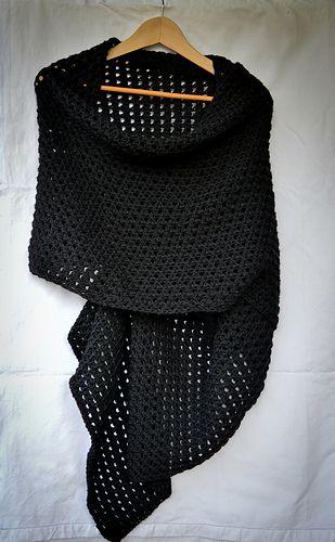 Tunisian Crochet Free Pattern Ravelry Stola Coliseum Wrap