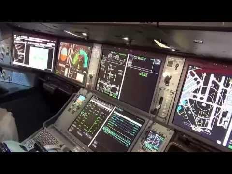 Airbus A350 Cockpit Tour at the 2013 Paris Air Show - YouTube