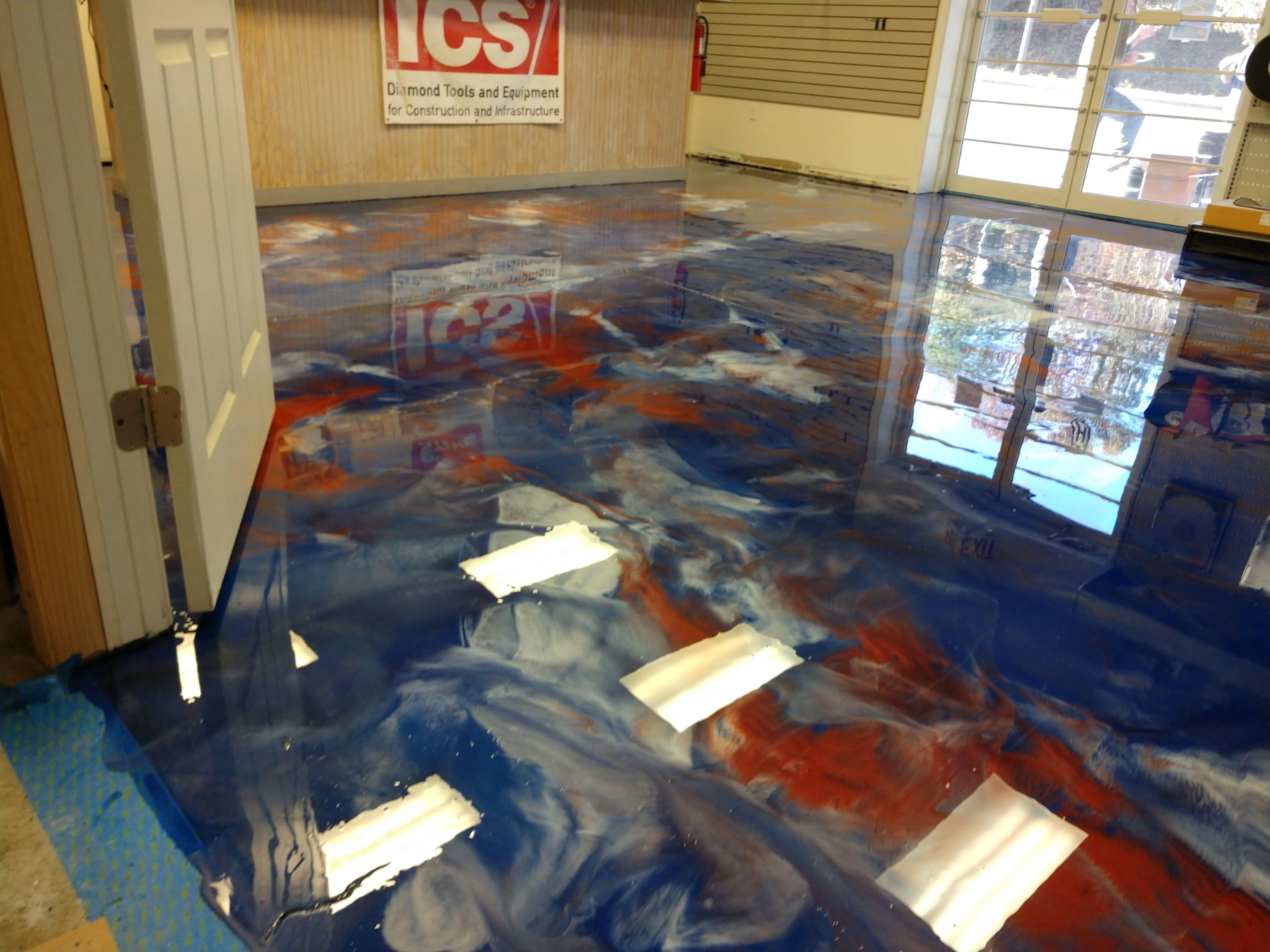 Patriotic Metallic Epoxy Floor Metallic Epoxy Floor Epoxy Floor Floor Colors