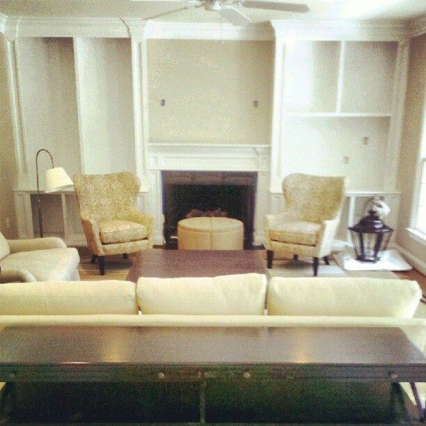 Modern Furniture 2014 Clever Furniture Arrangement Tips: Built-ins Flanking Fireplace