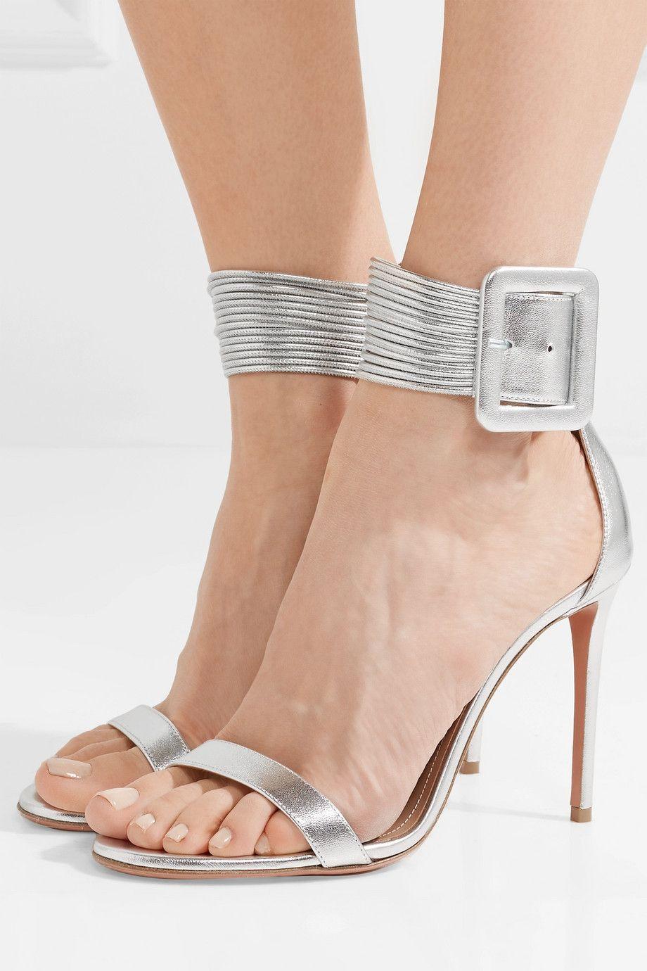 Casablanca Metallic Leather Sandals Aquazzura 4rKkN
