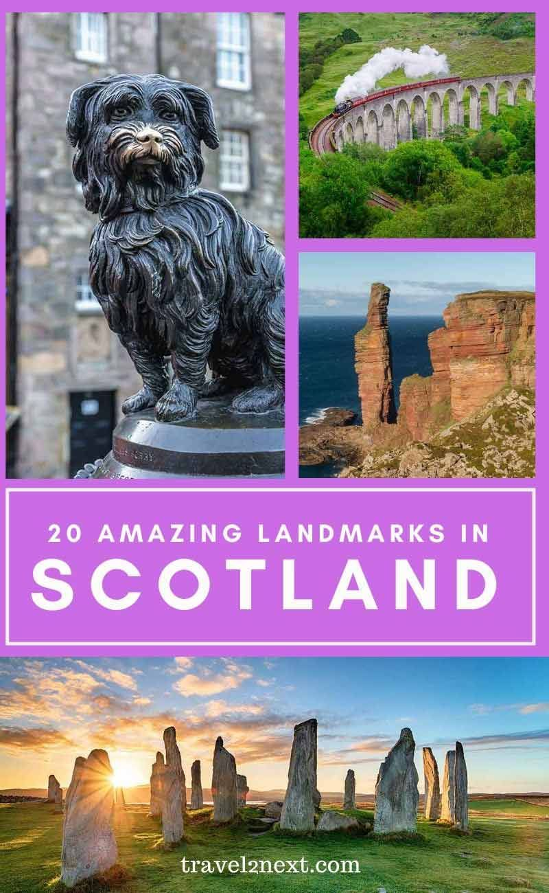 20 Incredible Landmarks in Scotland. #scotland #landmarks #monuments #unitedkingdom #uk #scotlandtravel via @travel2next