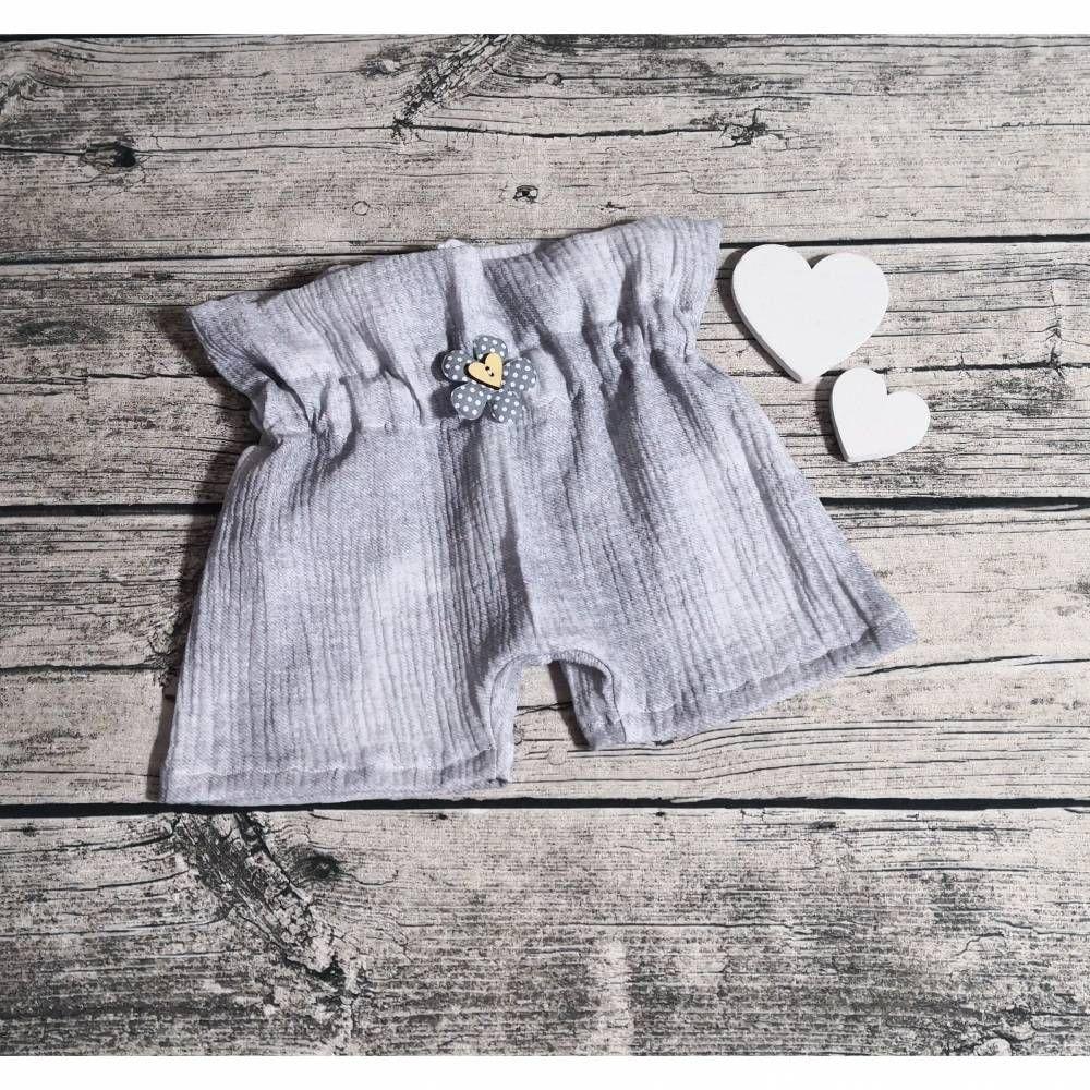 Kurze Pumphose Babyhose Musselin Hose Baby Kind Mädchen  56-104 Handmade