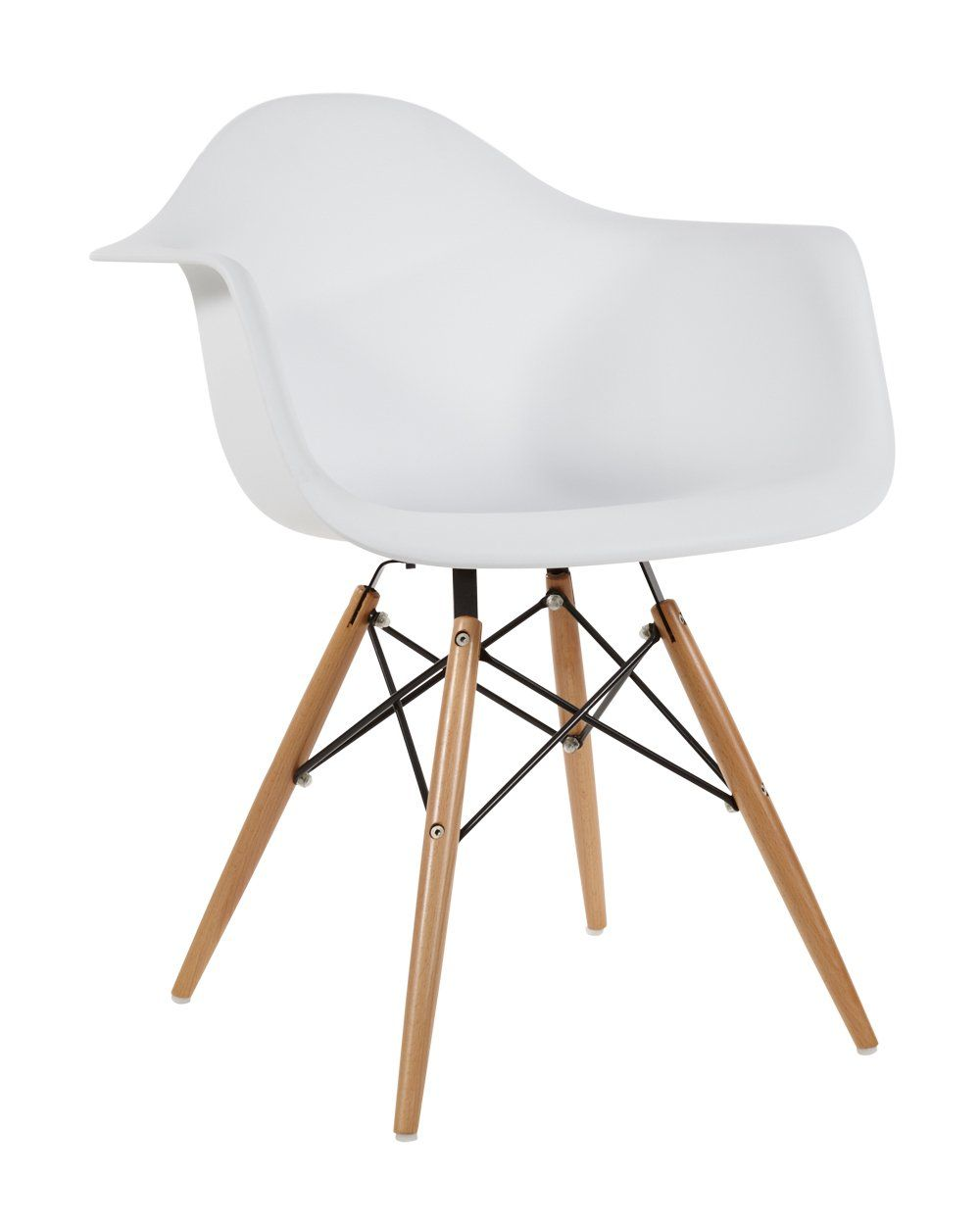 Charles Eames Style DAW Dining Chair Plastic - White: Amazon.co.uk: Kitchen & Home