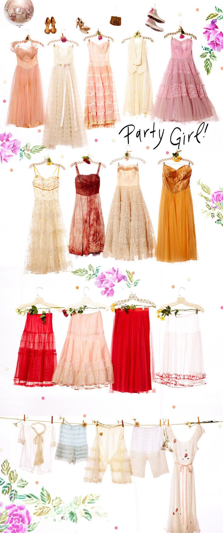 pretty pretty pretty I would love to twirl in some of these dresses!