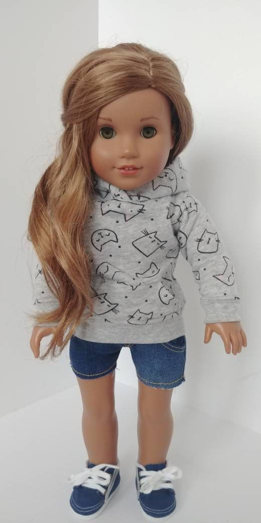 18 inch doll clothes. Fits like American girl doll clothing. 18 doll clothing . Hoodie