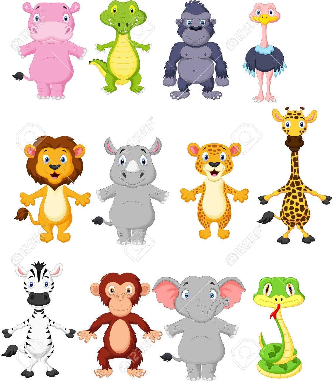 Wild Animal Cartoon Illustration Ad Animal Wild Illustration Cartoon Cute Wild Animals Wild Animals Vector Cartoon Animals