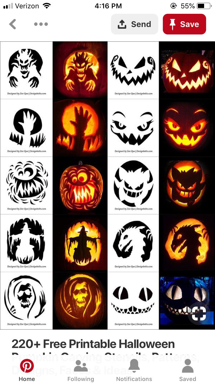 pumpkin template 2019  Pin by Lauren Somma on Halloween pumpkins in 6 ...