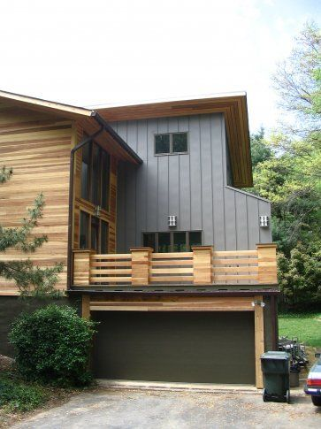 Deck over garage neat would definitely save some room on for Modern garage with apartment above