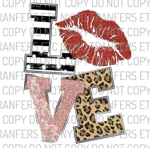 Download Love Glitter Leopard Stripe Valentine - Sublimation ...