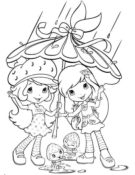Strawberry Shortcake Coloring Page Stamp Strawberry