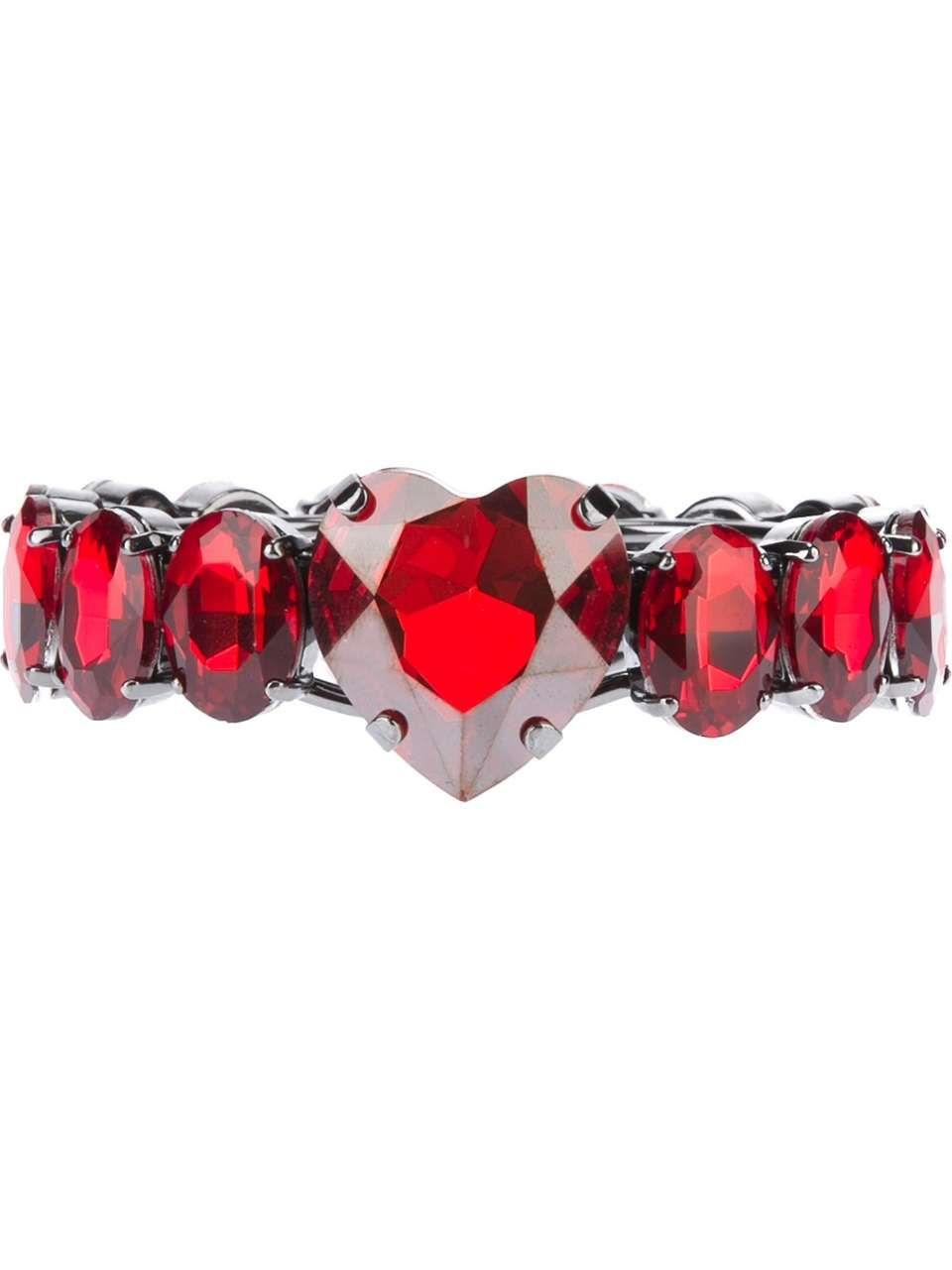 huge discount b19de 092d5 MARINA FOSSATI heart shaped jewel ring | Hearts | Rings ...
