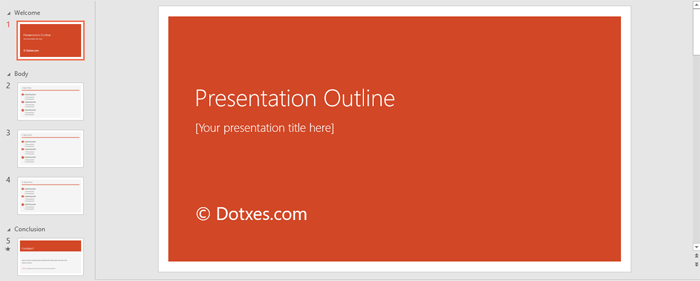 Presentation Outline Template For Powerpoint  Outline Templates