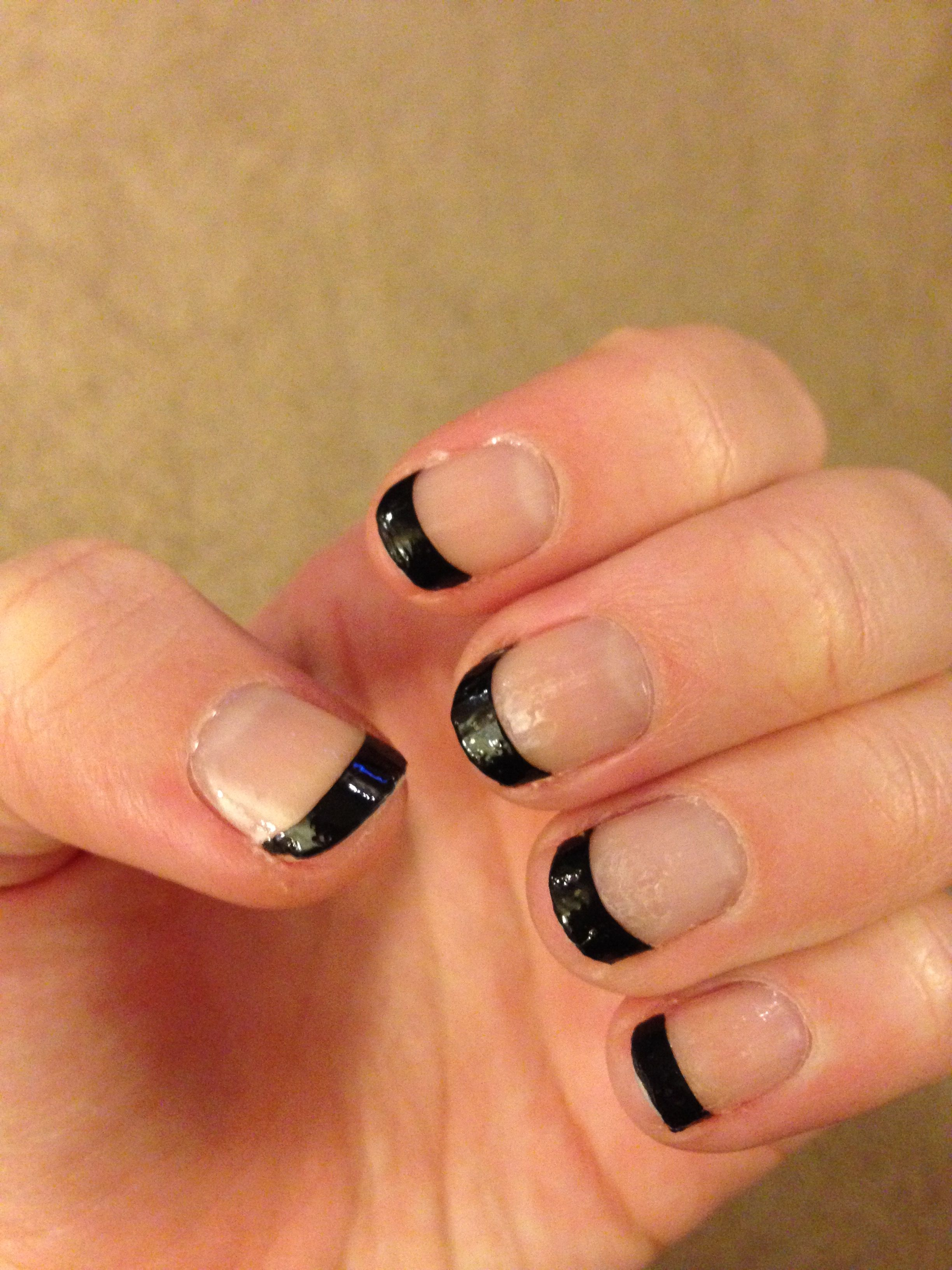 Sally Hansen Nail Strips: Black French Manicure | Nails | Pinterest ...