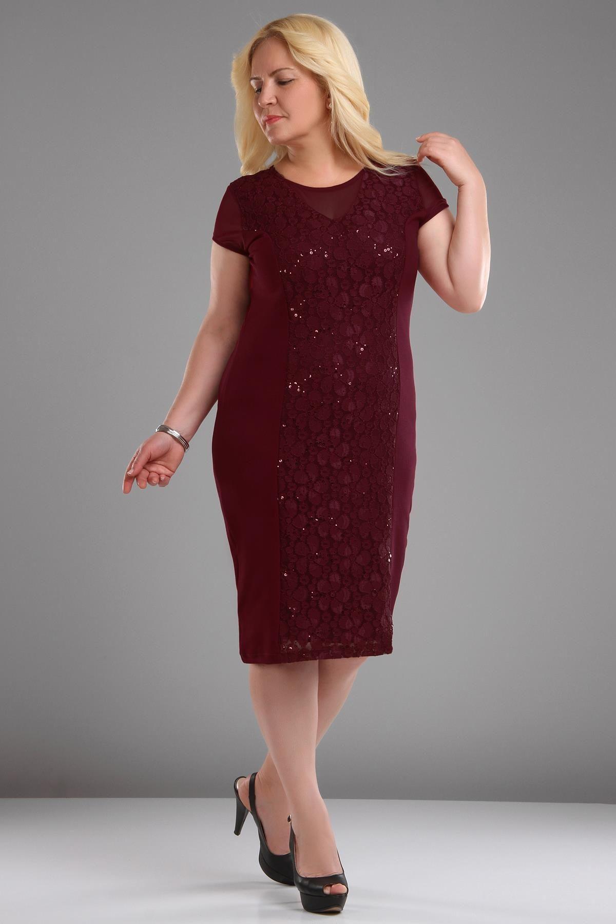 Patirti Pullu Dantel Isleme Tul Detay Elbise Elbise Elbise Modelleri Giyim