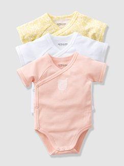 Lot de 3 bodies bébé Bio Collection manches courtes - vertbaudet enfant 7ed3215fad8